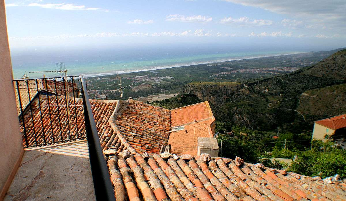 Aussicht vom Balkon übers Meer