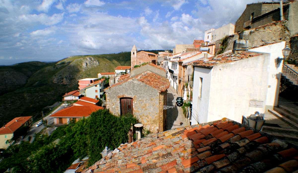 Aussicht vom Balkon über die Dächer