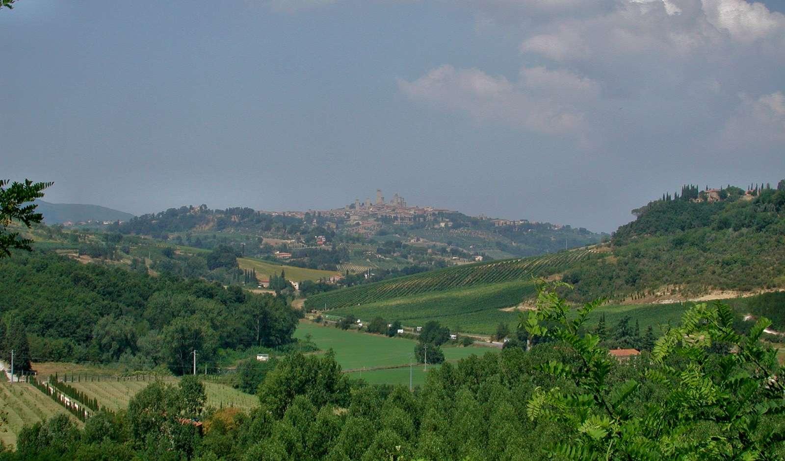 Die Landschaft von San Gimignano