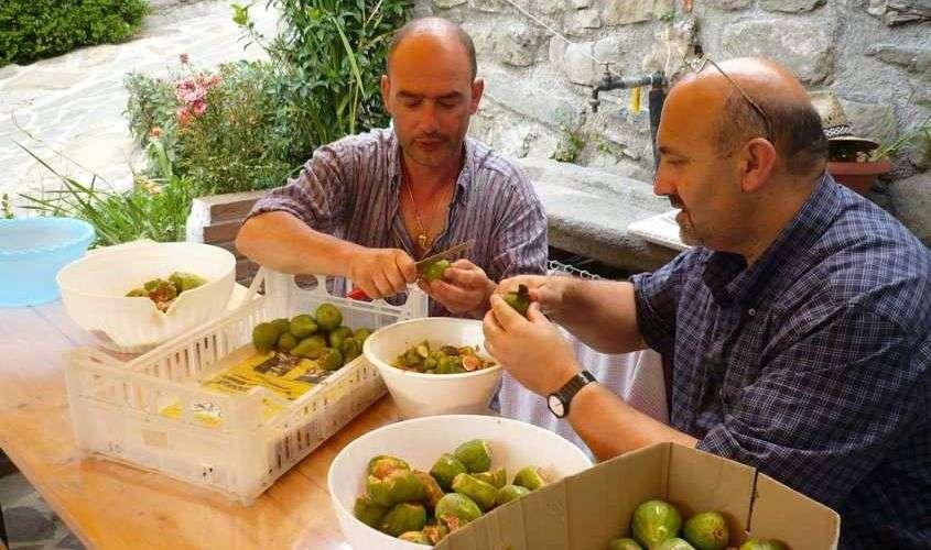 Hele familien er i gang, når maden skal tilberedes på Il Ristoro