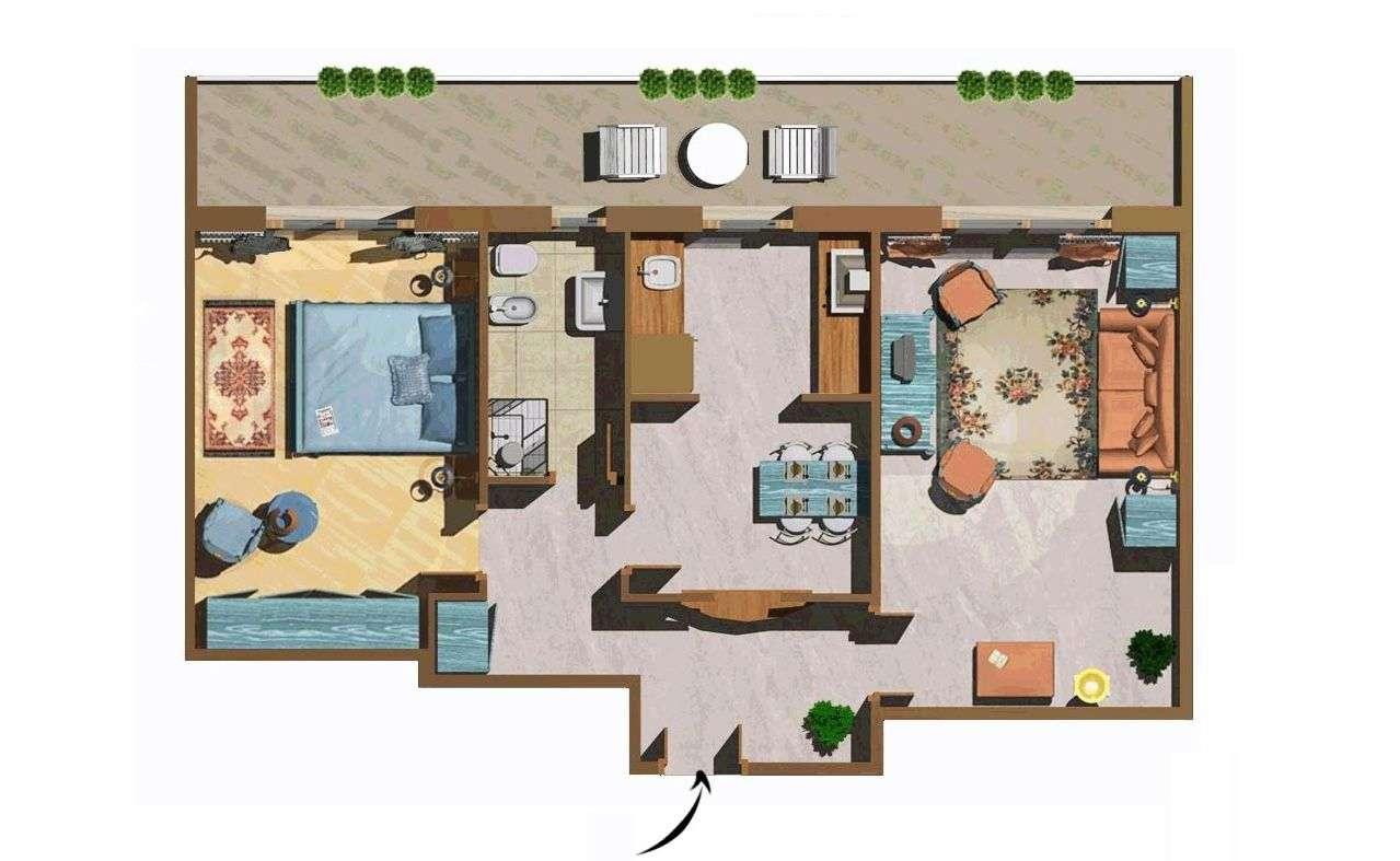 Beispiel für eine Zweizimmerwohnung