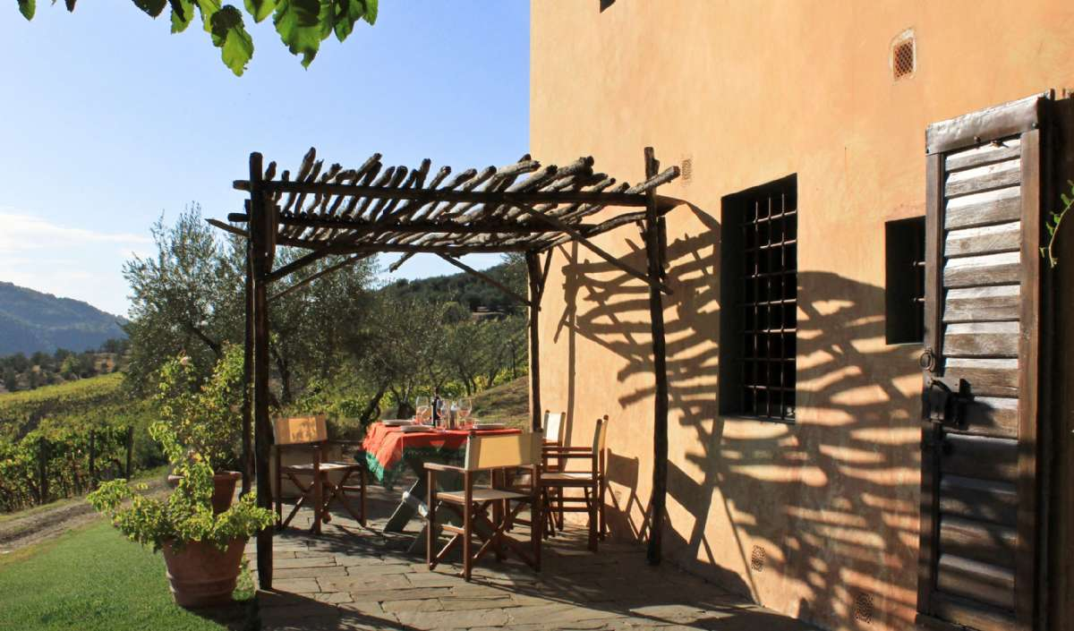 Terrasse til lejligheden La Tinaia