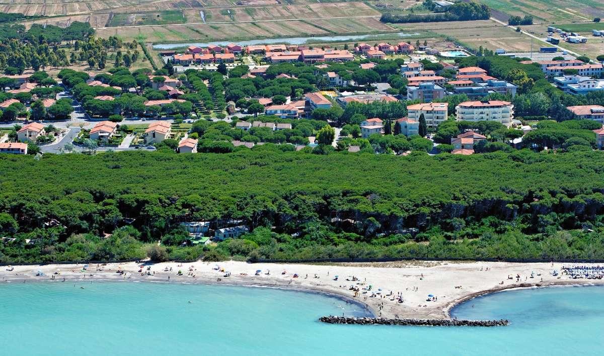 Også ved Vada finder du klassisk toscansk strand med pinjeskoven i ryggen