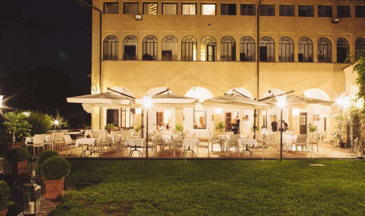 Abendstimmung Castello Oldofredi
