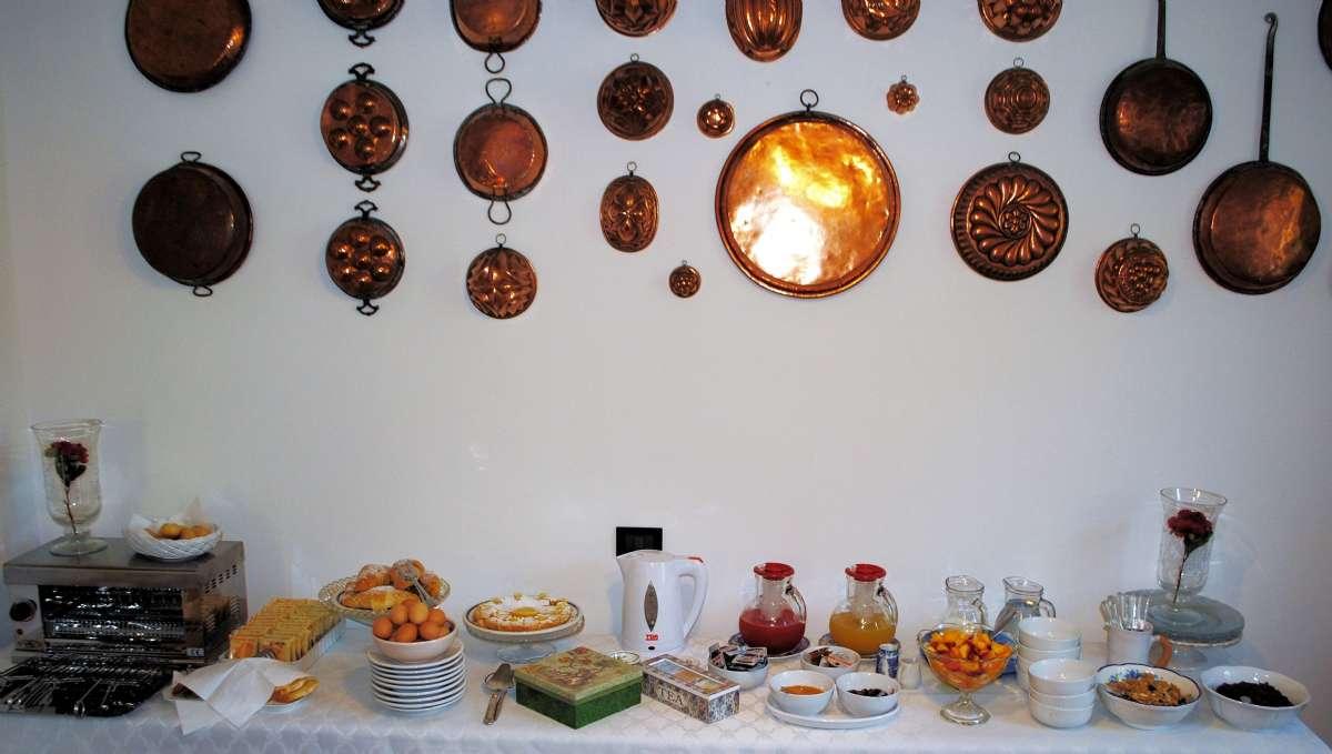 Morgenmadsbufeeten på L'Amadola