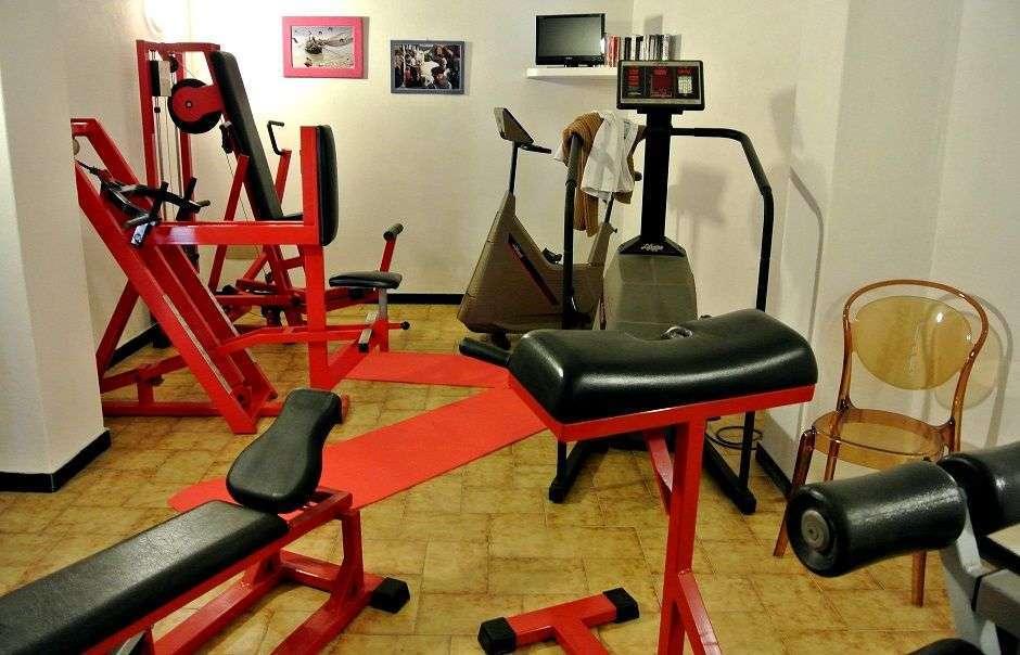 Ein kleiner Fitnessraum