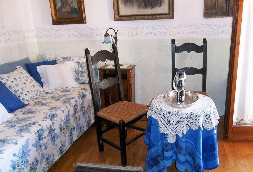 Dobbeltværelse Azzurra bliver til opholdsstue hvis man bestiller suiten