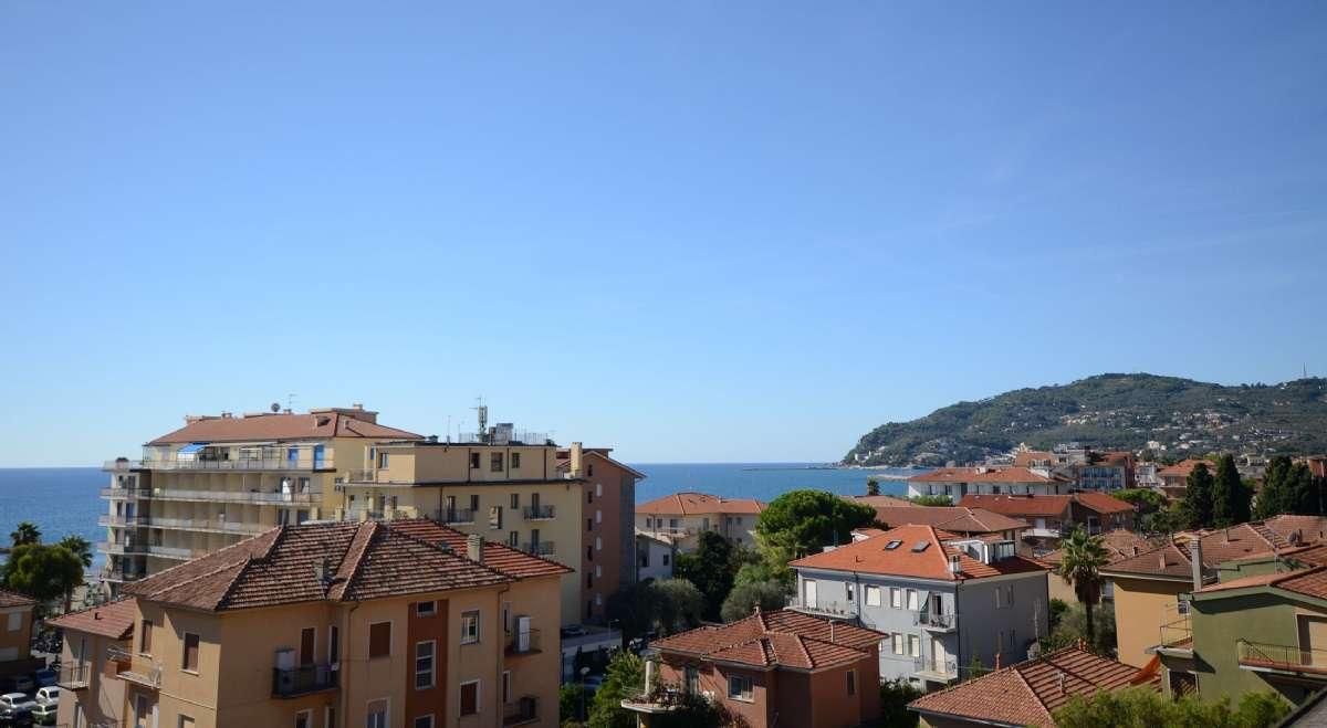 Utsikt mot havet från takterrassen