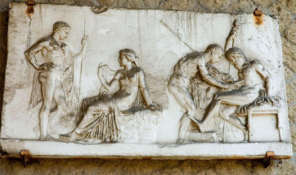 Et fresco fra ruinerne ved Herculaneum
