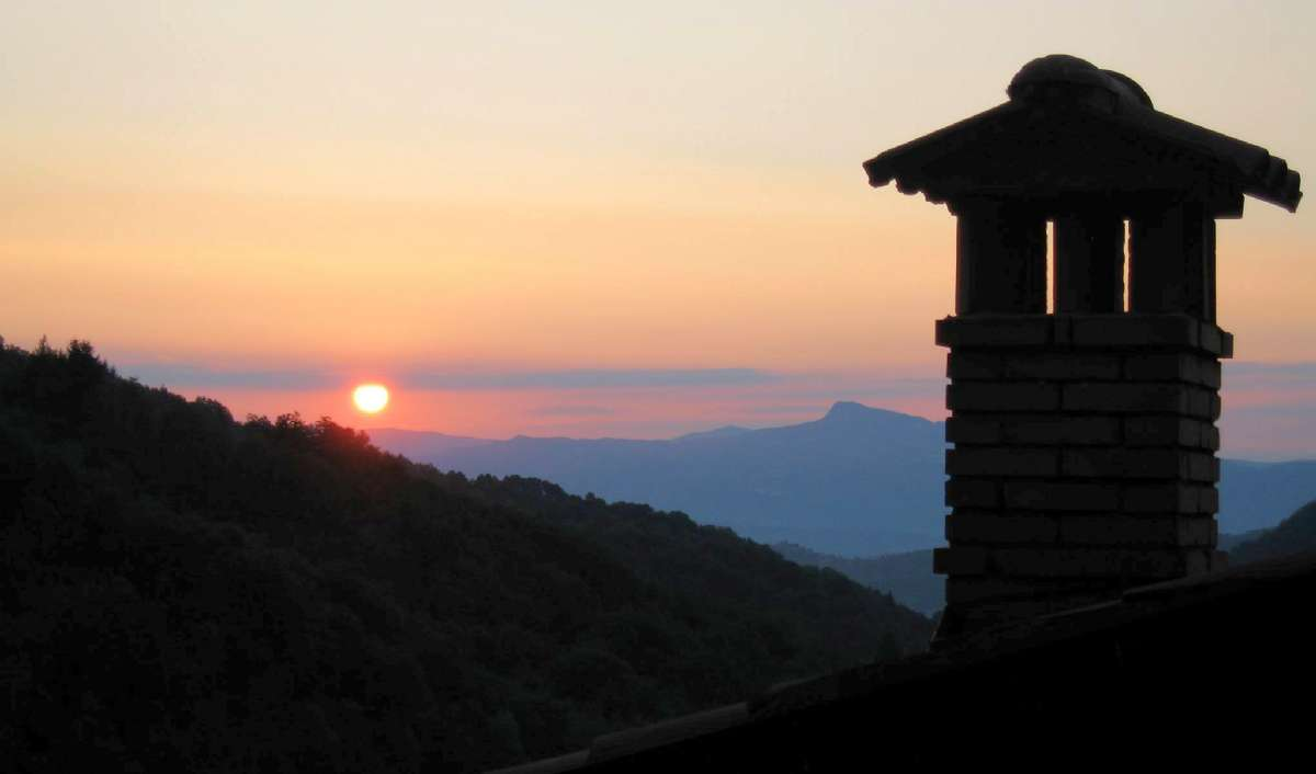 Solnedgangen fra Ortignano Raggiolo