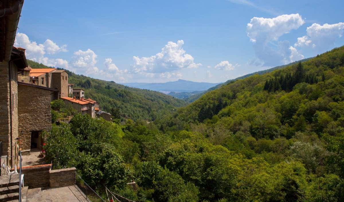Udsigt over dalen fra Ortignano Raggiolo