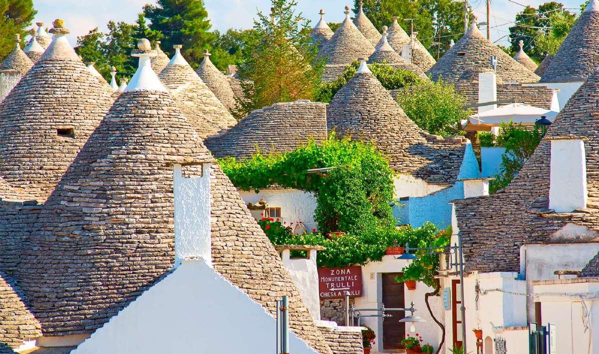 Alberobello med sine legendariske trulli-bygninger