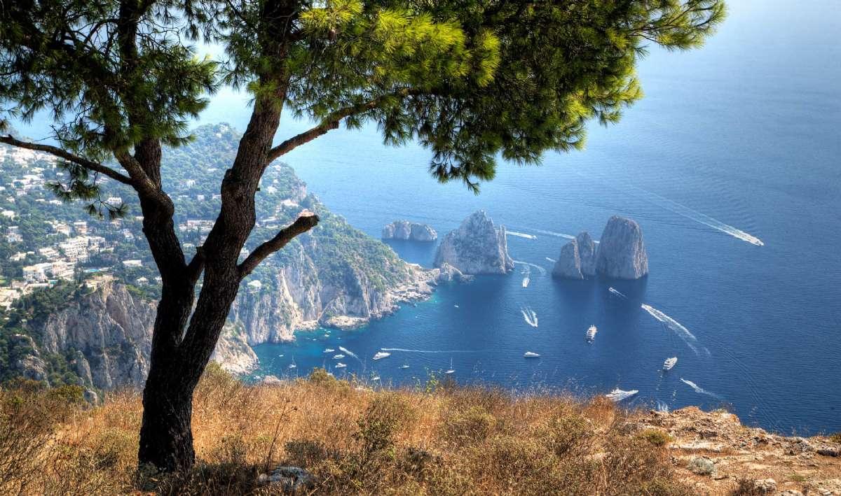 Udsigt ned over Capri