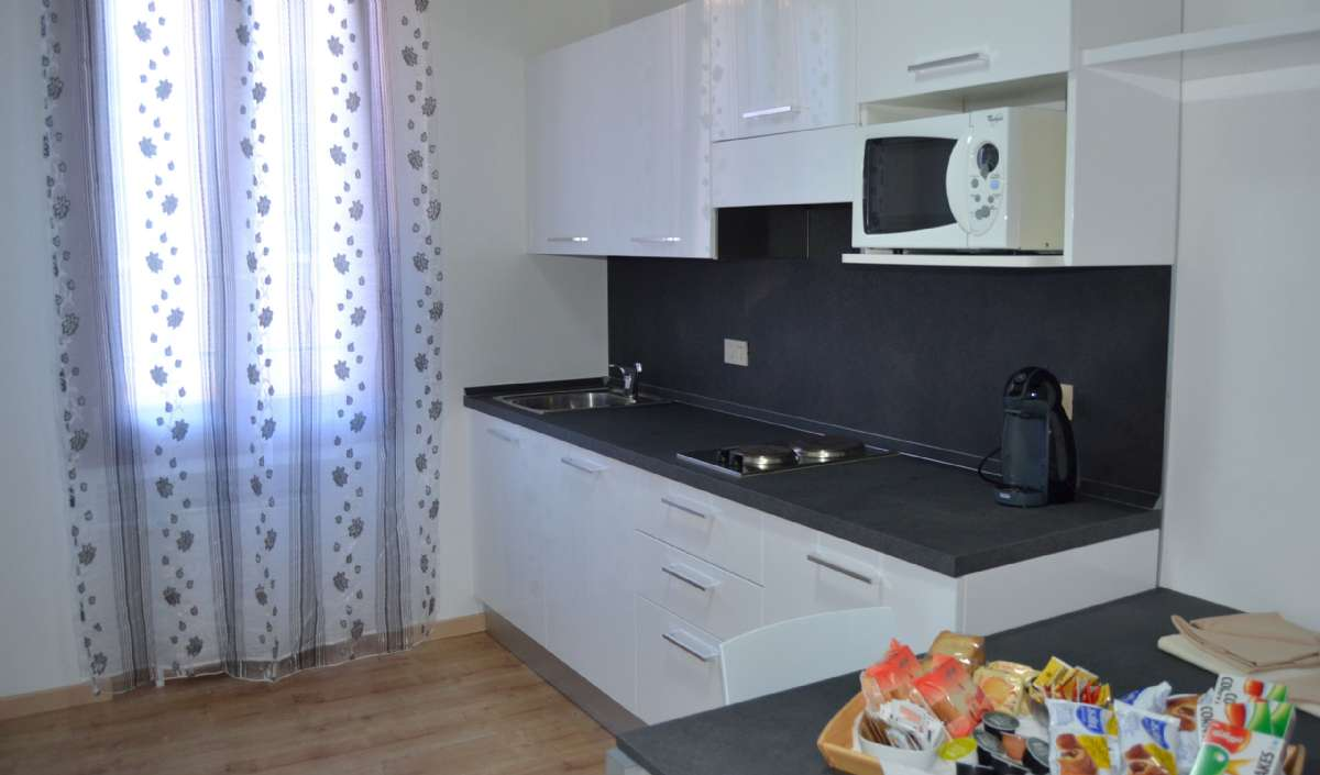 Eksempel på køkkenhjørne i Comfort suite