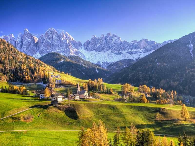 Vidunderlgt bjergrigt område, Bressanone fungerer hele året