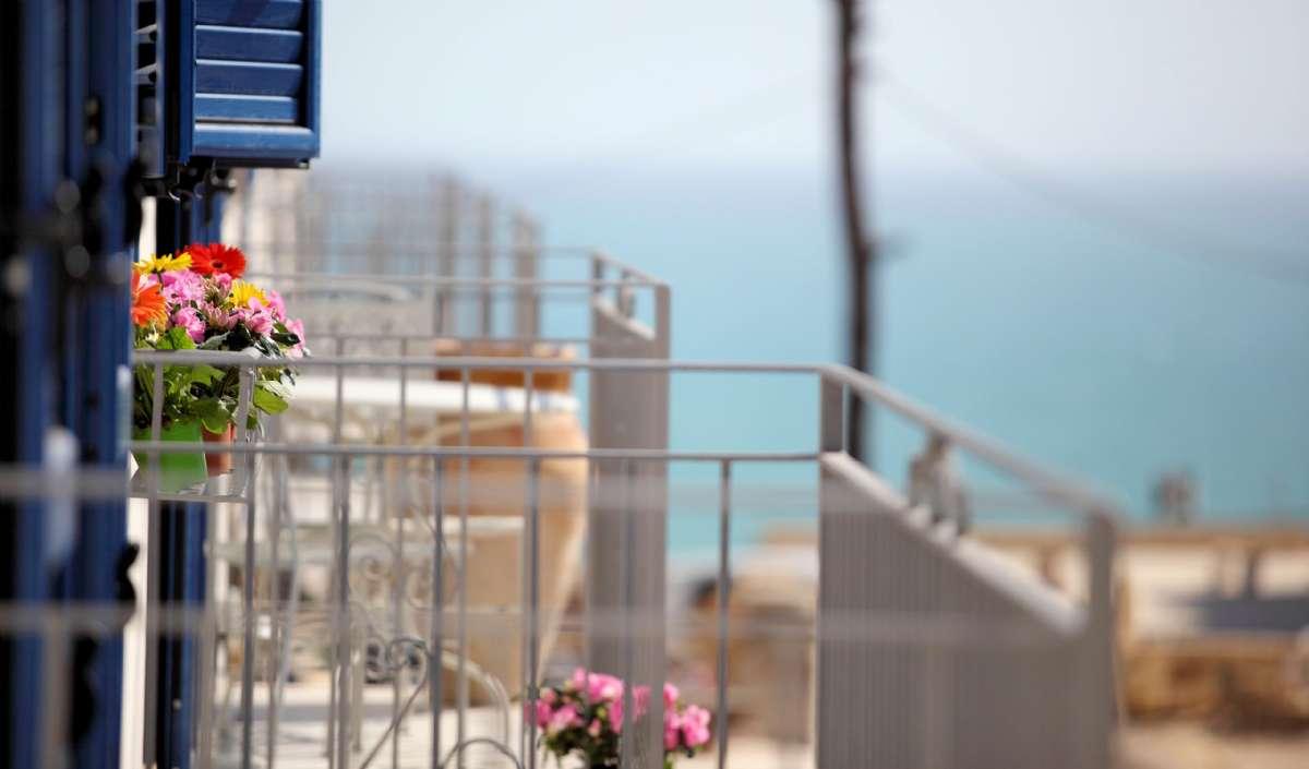 Scala Dei Turchi Resort udsigt fra balkon