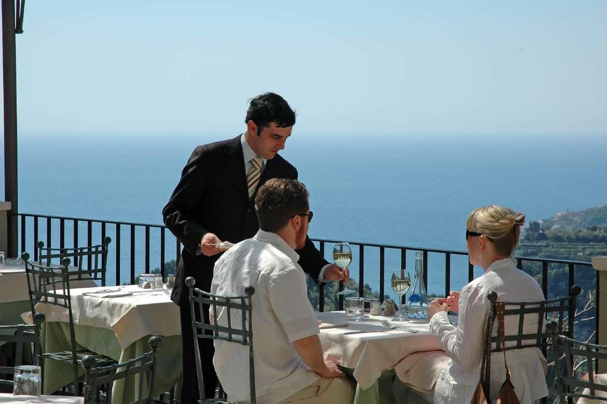 Restauranten på Villa Maria hører også til hotellet