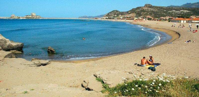 La plage de la Residenza Sole Mar.