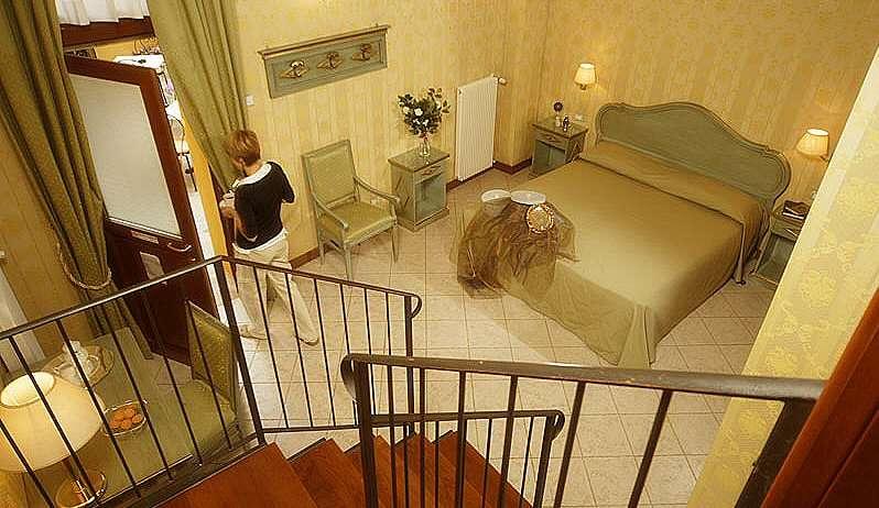 Familienzimmer auf zwei Etagen
