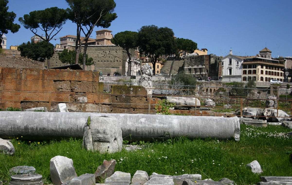 L'intérieur du Forum Romain