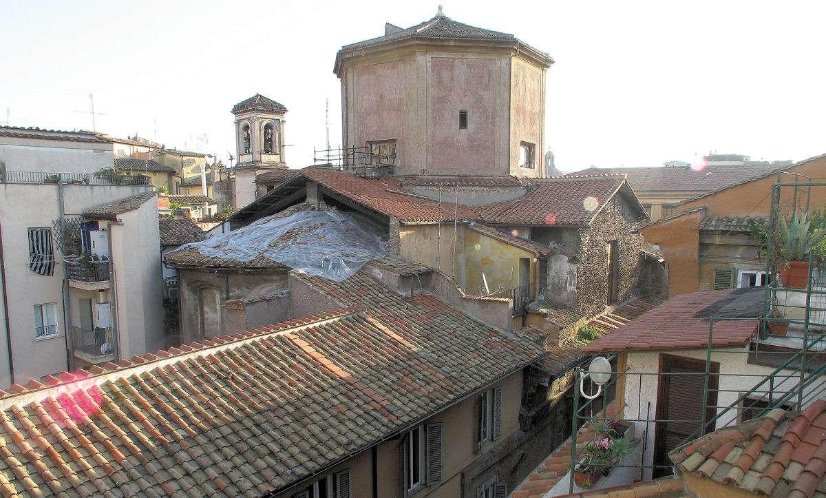 Utsikt över stadens tak