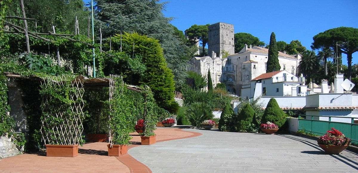 Udsigt mod Villa Rufolo