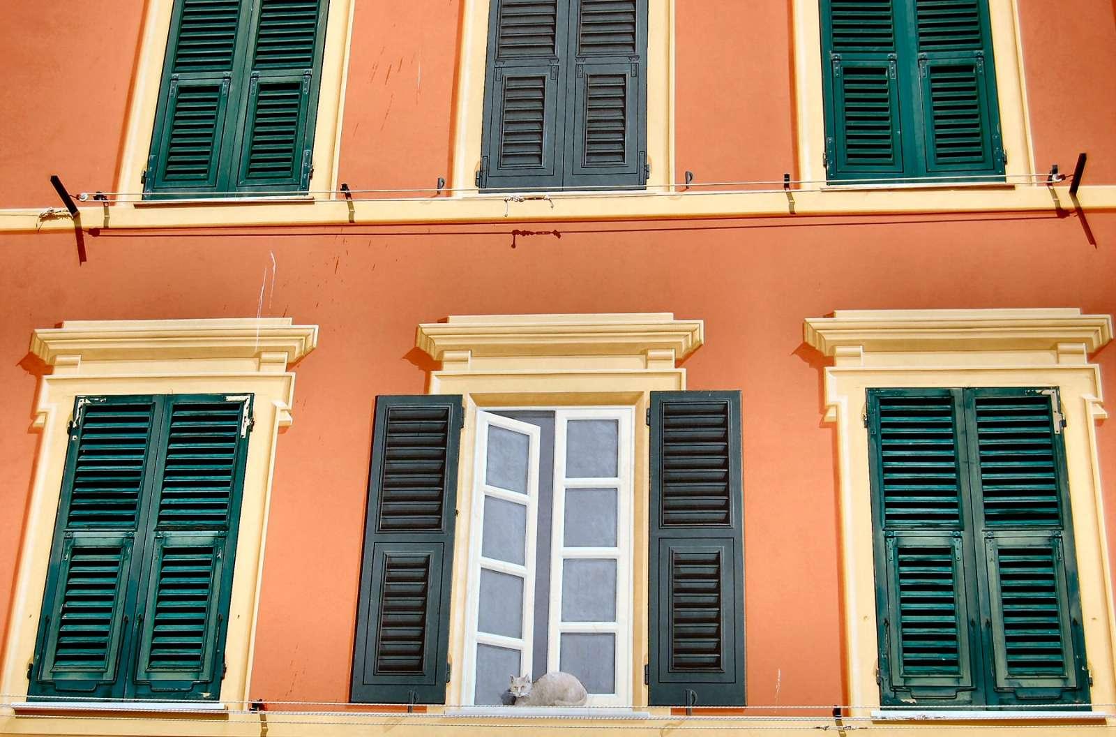 """Liguriske traditioner for vægmalerier narrer tit fjenden: se """"katten"""" i vinduet"""