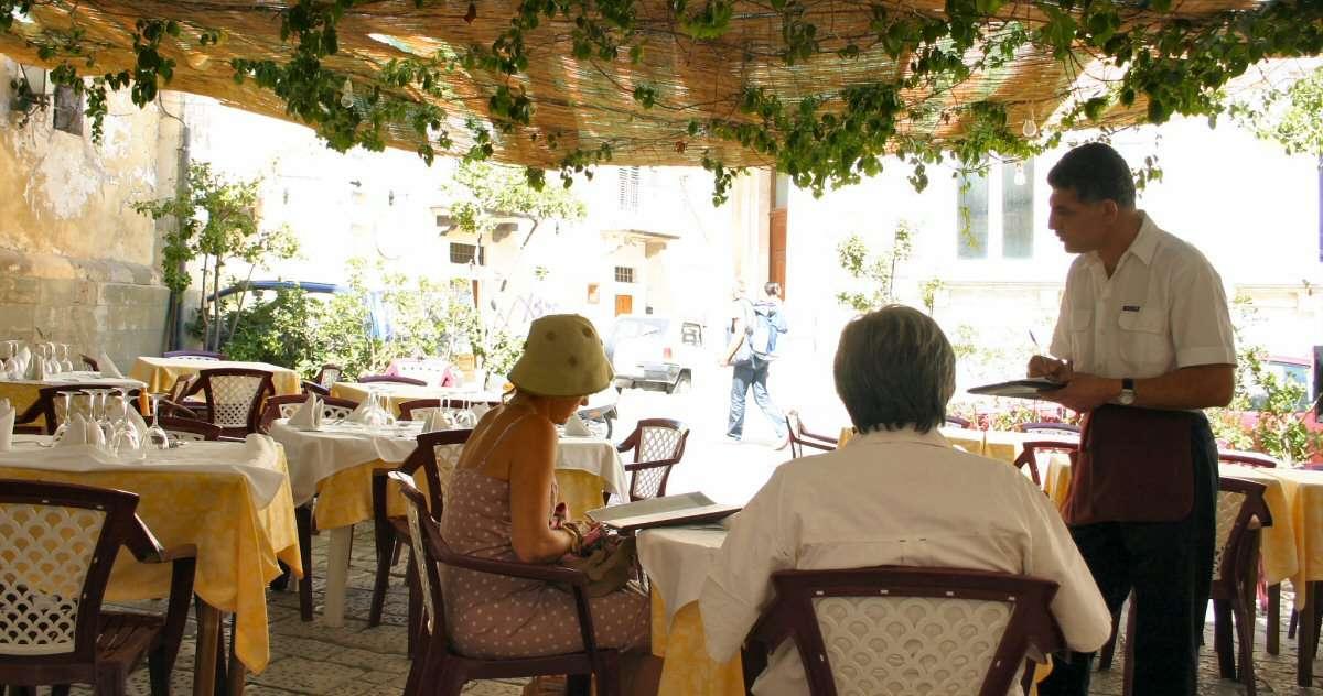 På restaurang i Palermo