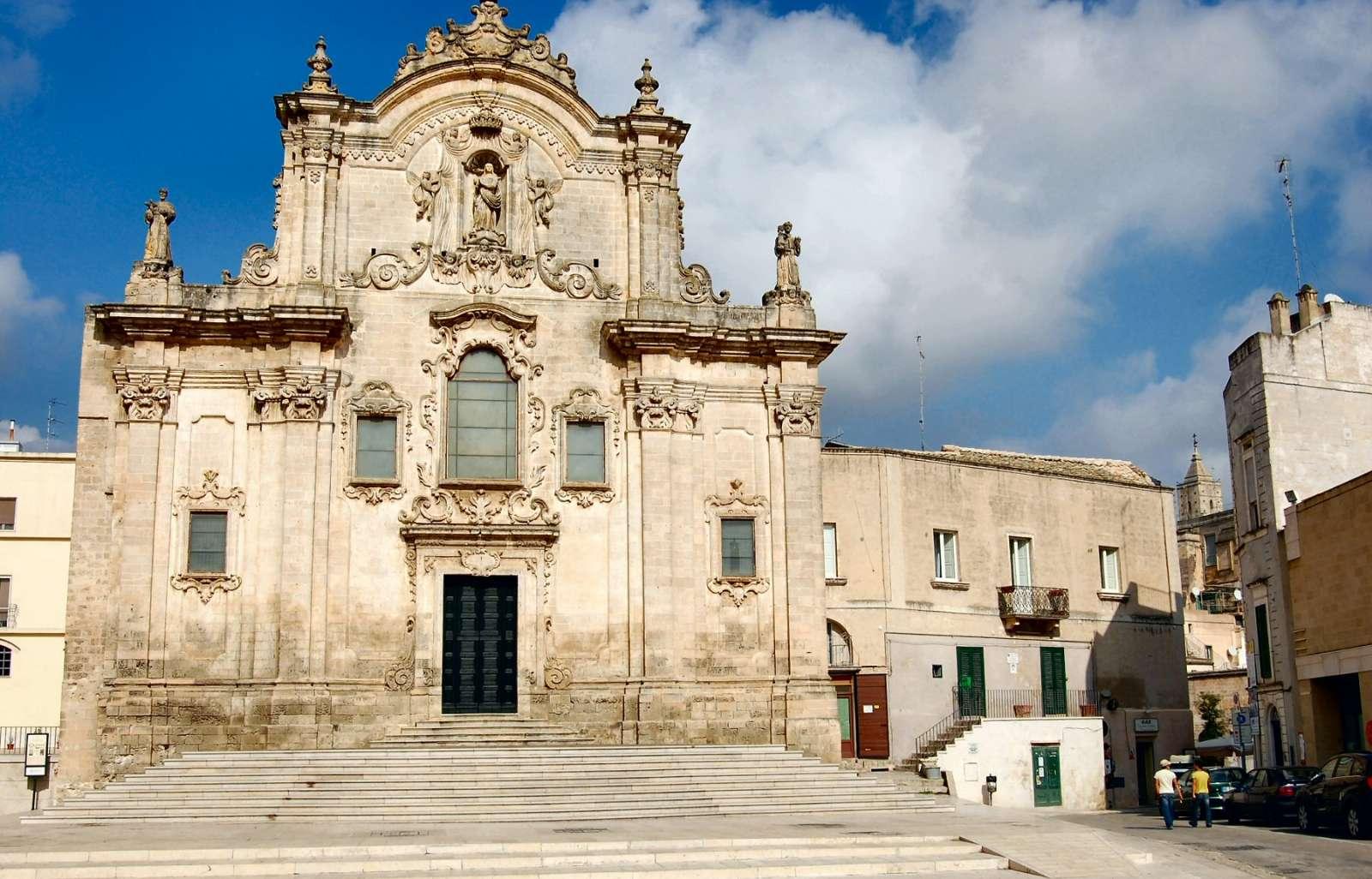 Une des nombreuses églises de Matera. Ici: San Francesco d'Assisi