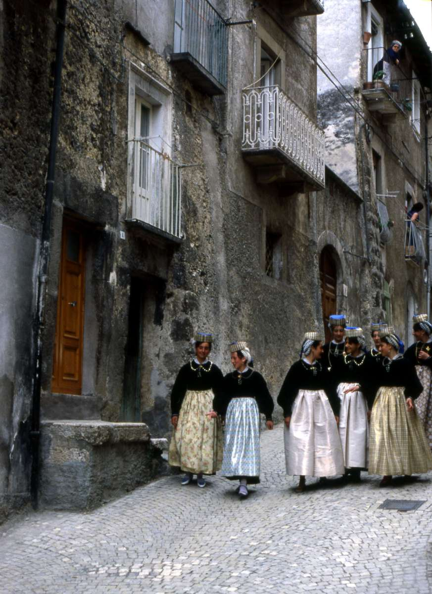 Parade from religious feast in Abruzzo