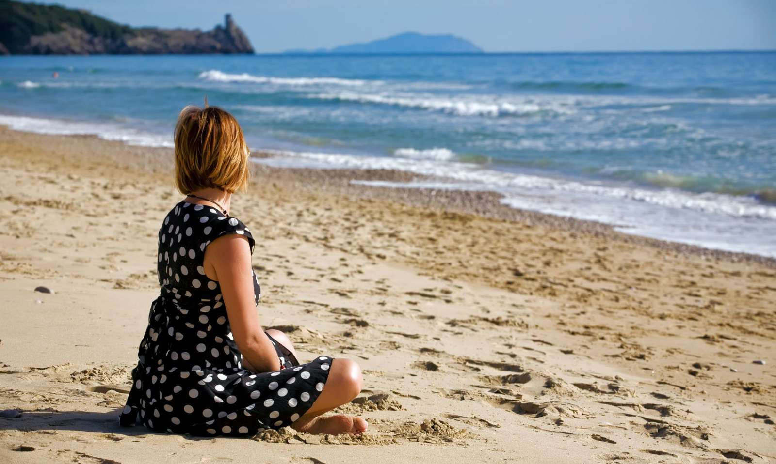 Stranden ved Gaeta i det sydlige Lazio