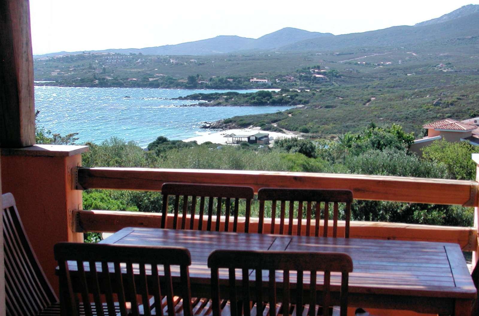 Udsigt fra terrassen på Residence Spiaggia Bianca