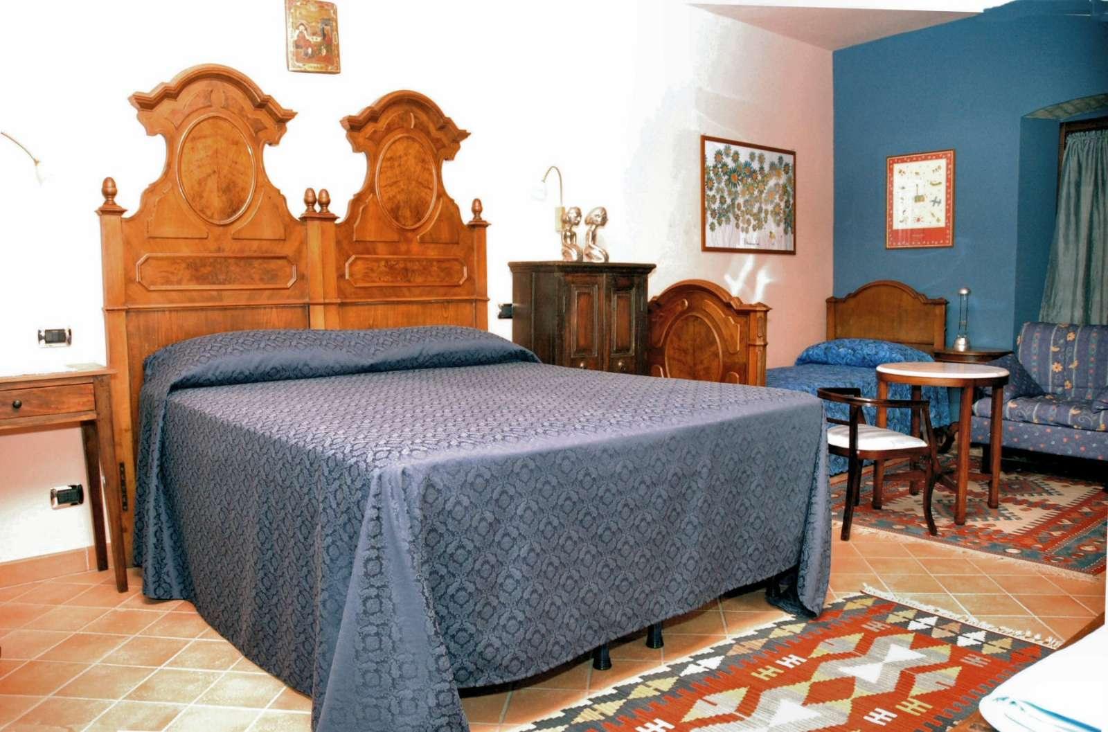 Zimmer Blu mit Extrabett