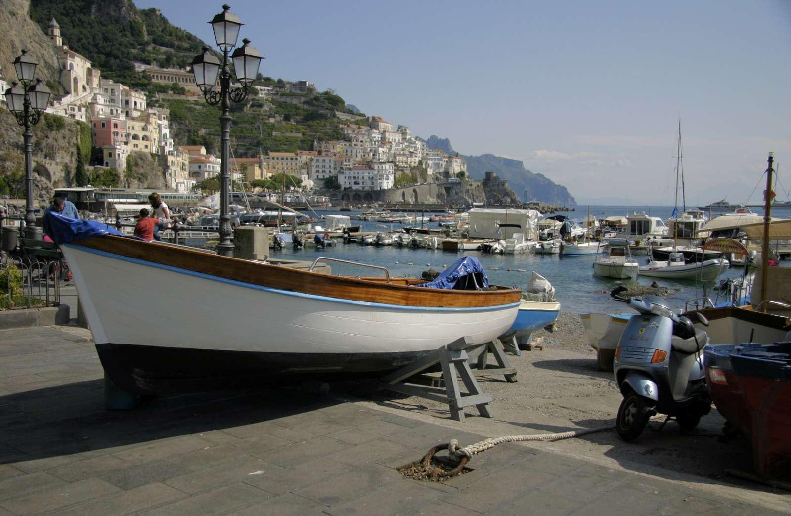 Der Hafen von Amalfi
