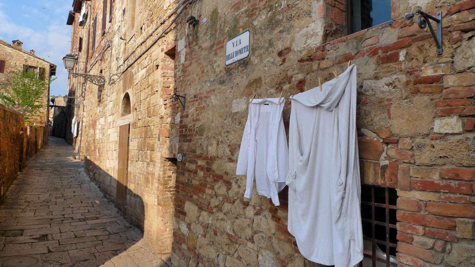 Via delle Romite i den övre stadsdelen