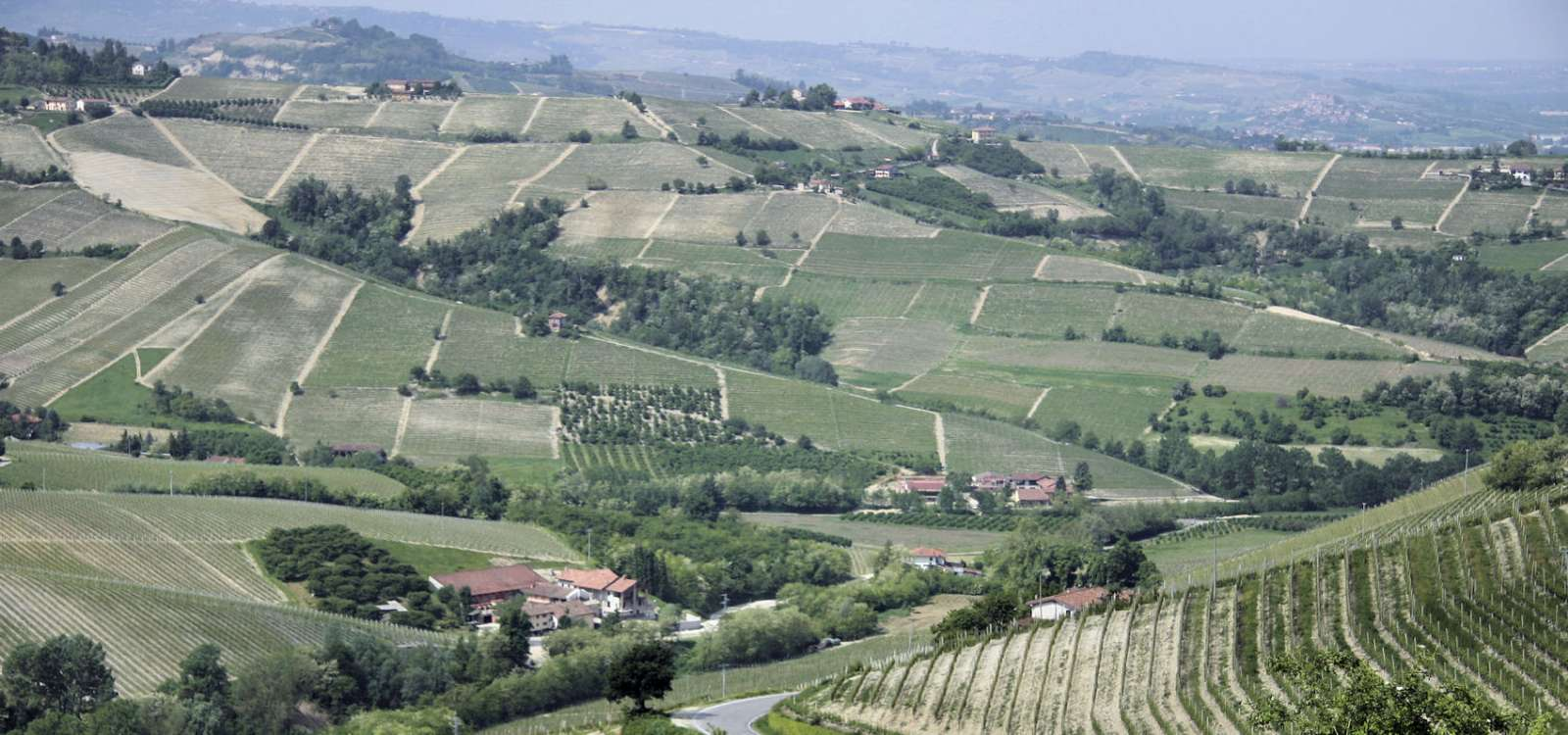 Ausblick von der Stadt über die Landschaft
