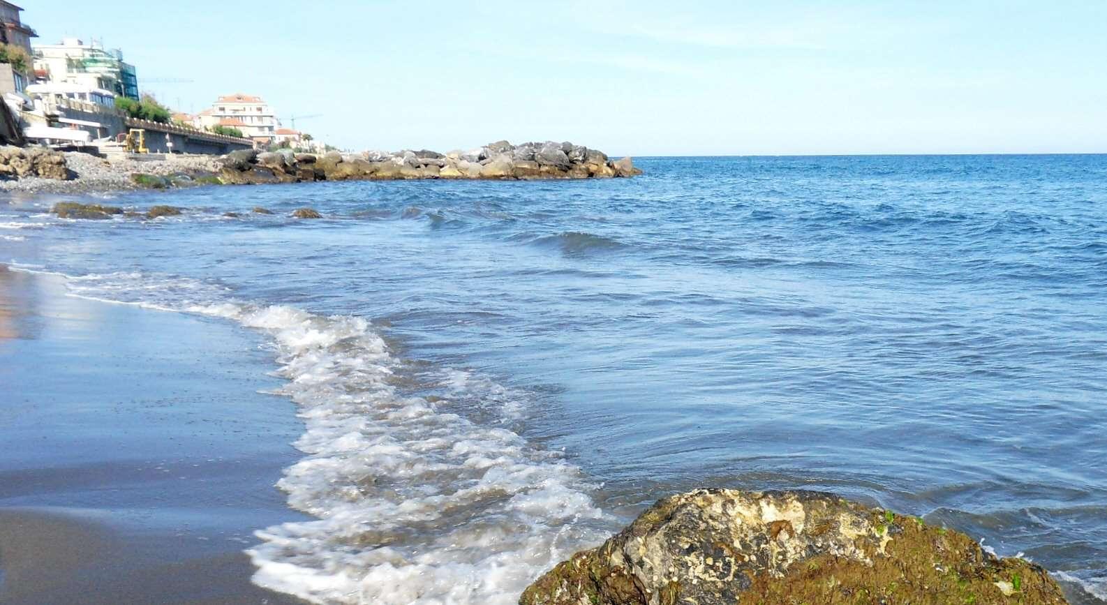 Der Strand in der Nähe
