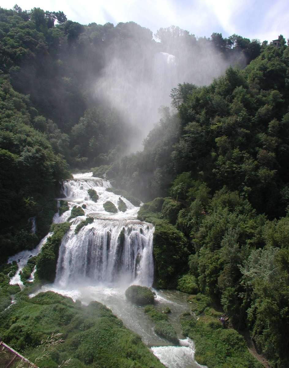 Vattenfallet Marmore i Umbrien