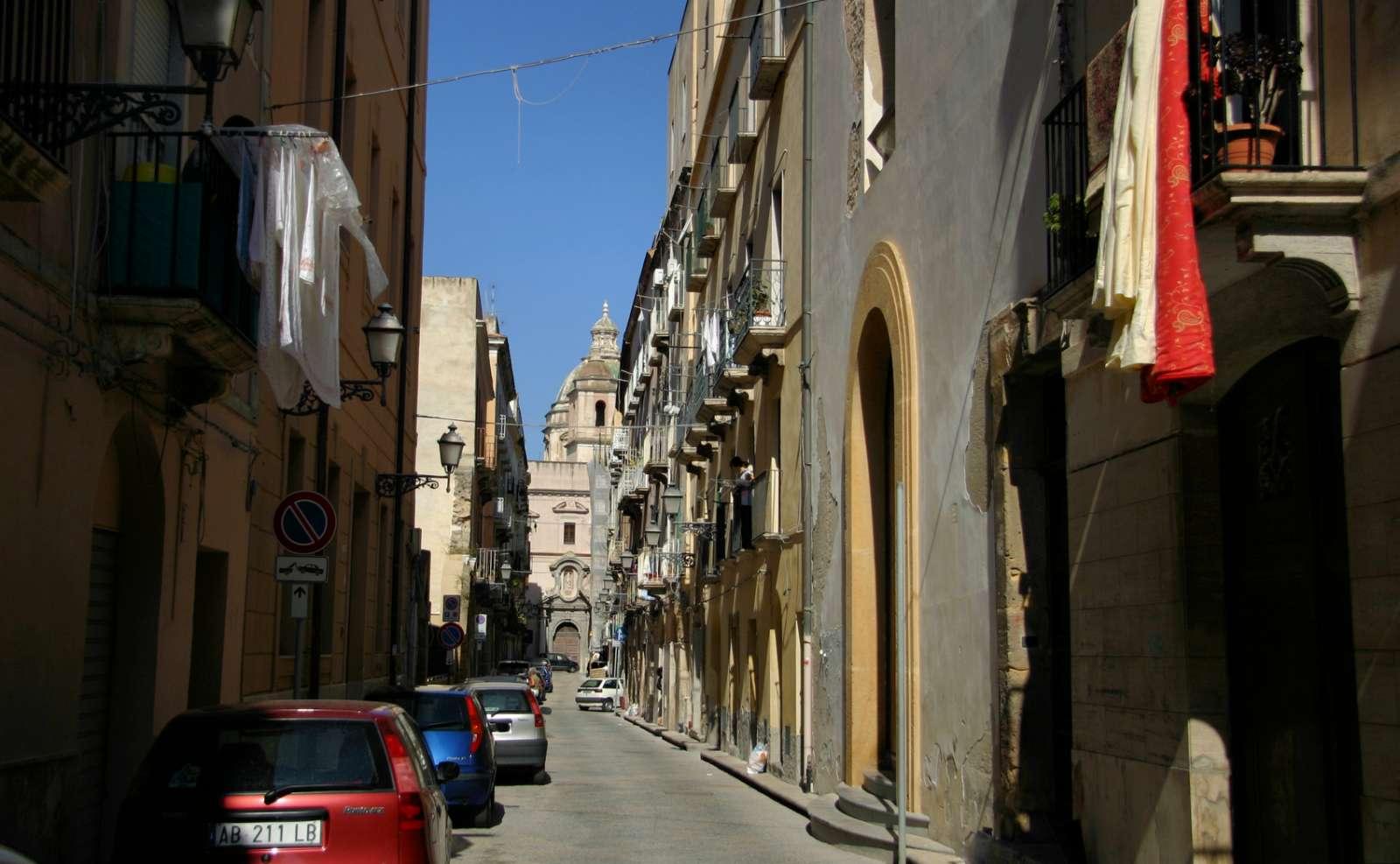 De smalle gader i bycentrum