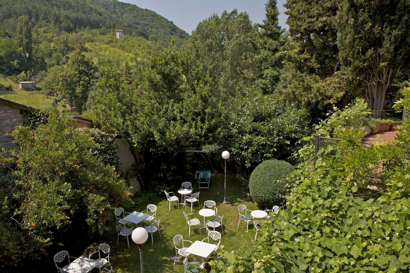 Hotellets skønne gårdhave