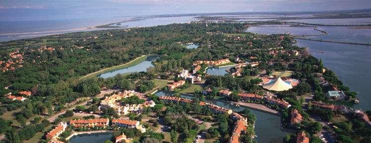 Albarella øen set fra luften