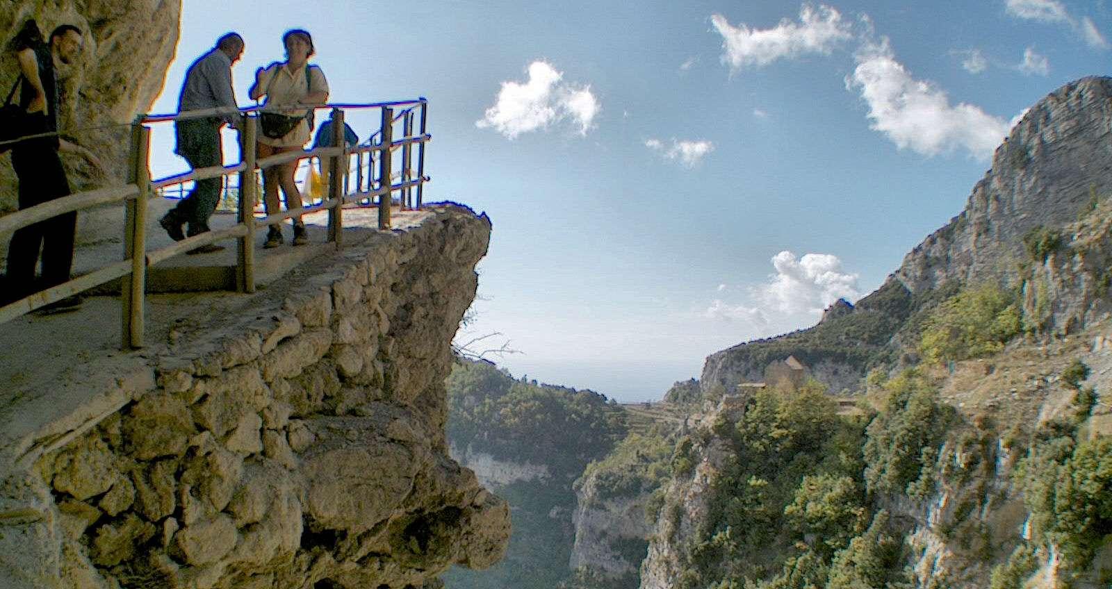 Vandring på Sentieri degli dei på Amalfikusten