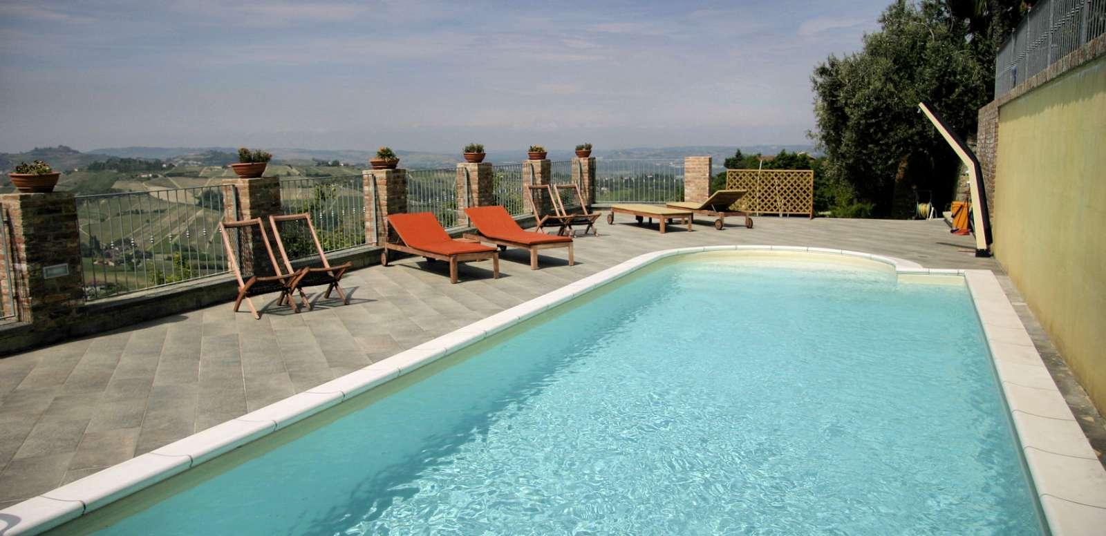 Svømmebassin på Villa Incanto B&B