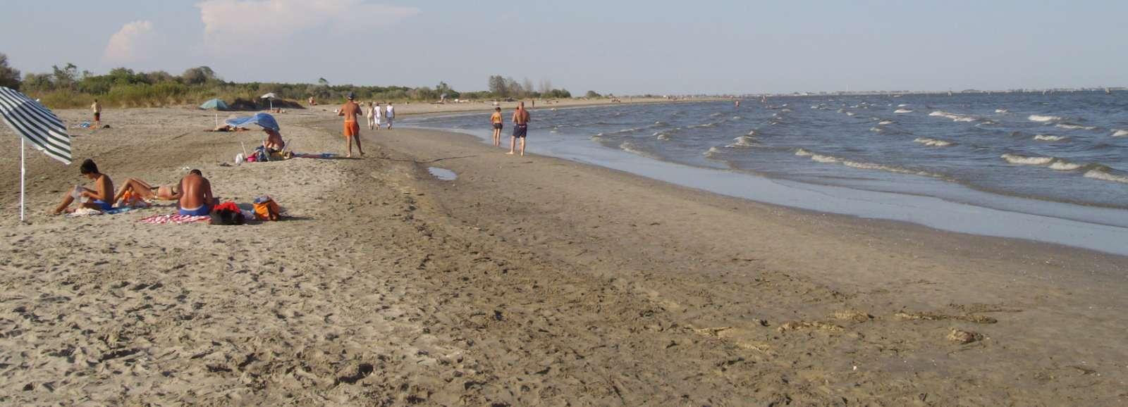 Gott om plats för alla på stranden vid Lido di Volano