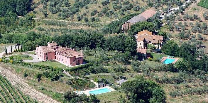Luftaufnahme: Le Fonti a San Giorgio und die nahe gelegene Locanda di San Giorgio