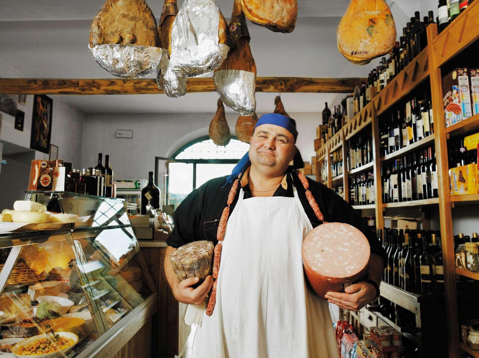 Frische und regionale Produkte können in der Toskana überall gekauft werden