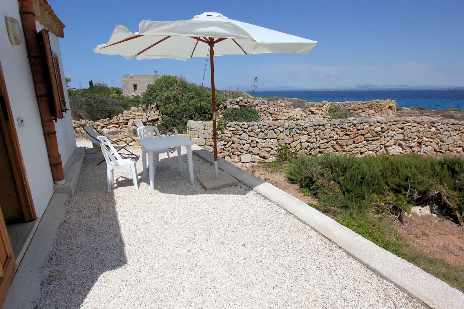 Vue de la mer depuis Gabbianella