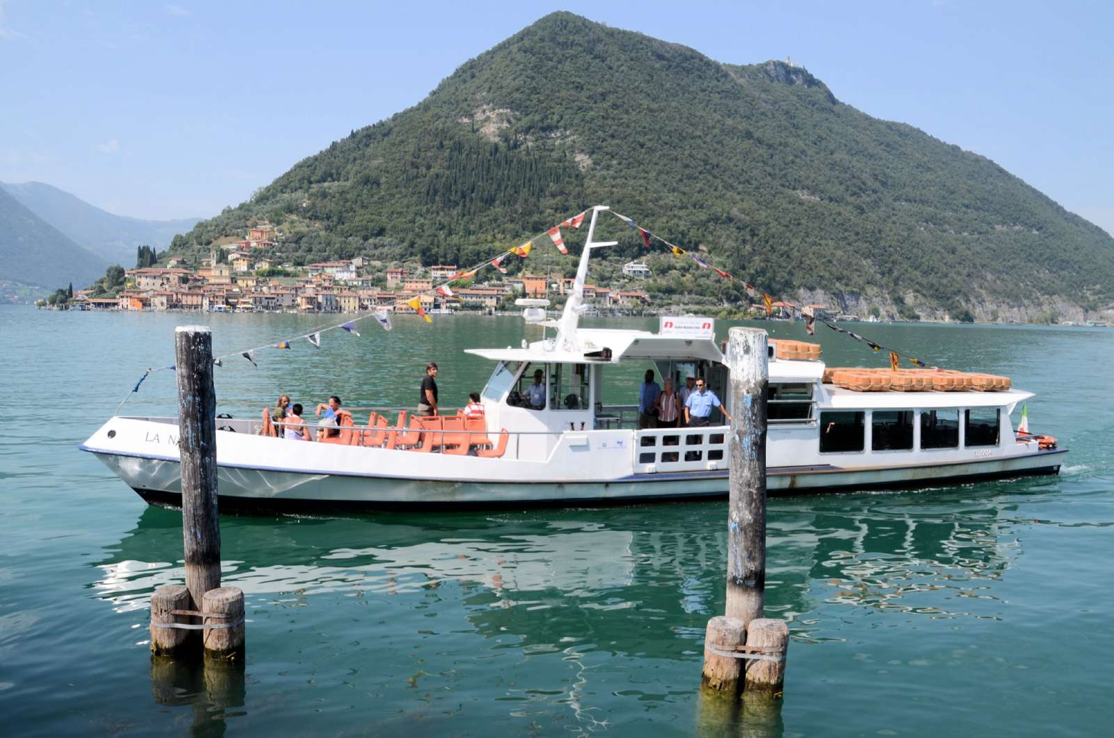 Le bateau à Montisola