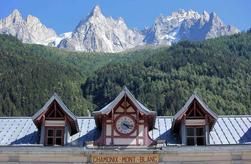 Chamonix under Mont Blanc