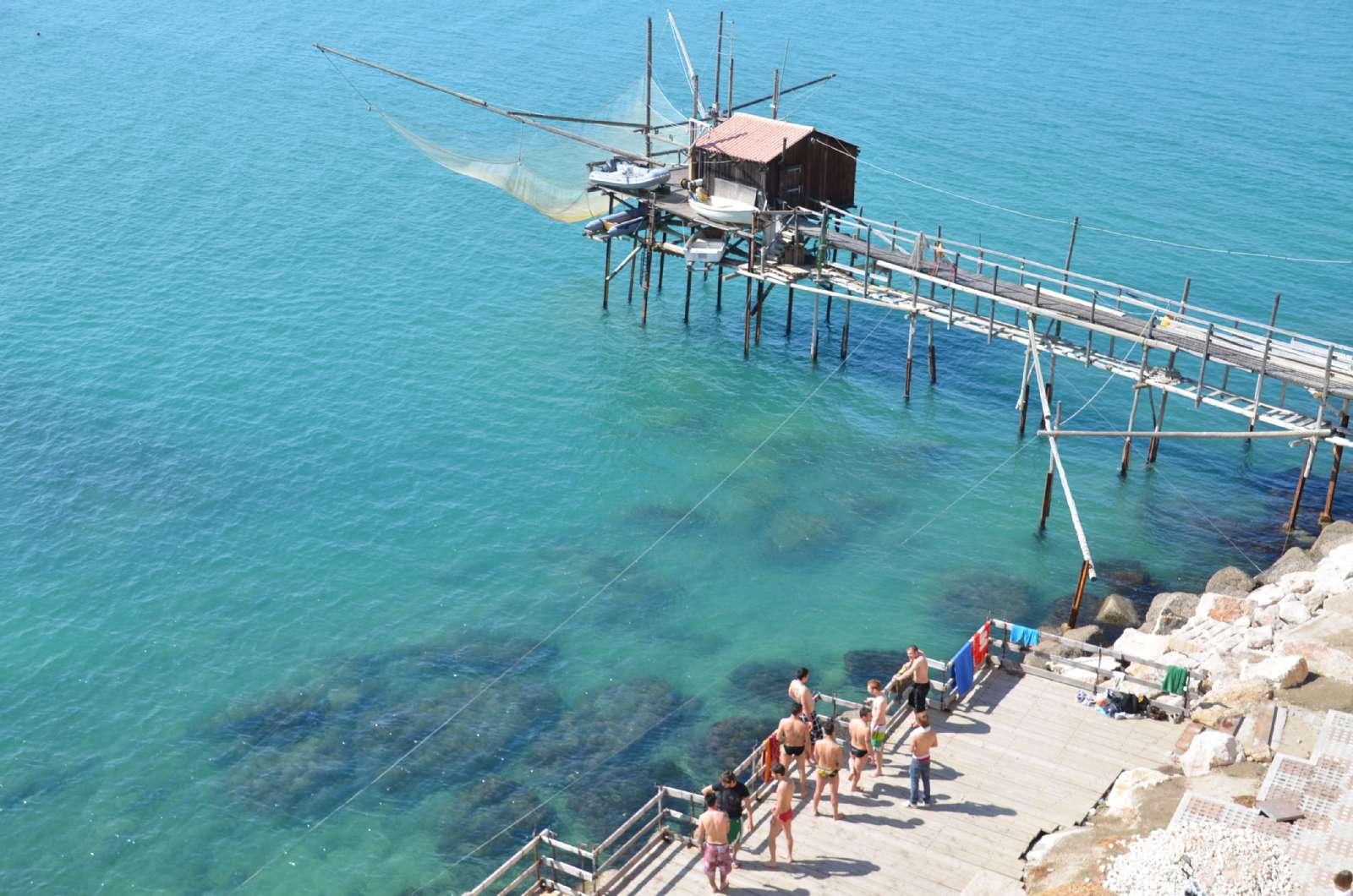 Karakteristisk fiskepost i Termoli